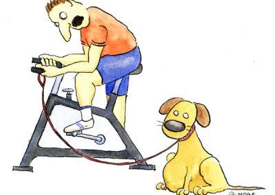 Illustration til bladet Workout og fitness